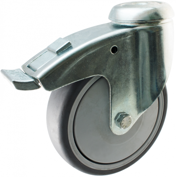 SM 3350F Industrial castor with thermoplastic rubber wheel