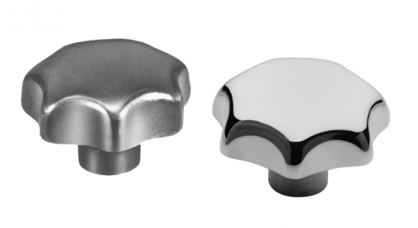 SM 1205-2 Star knobs, aluminium