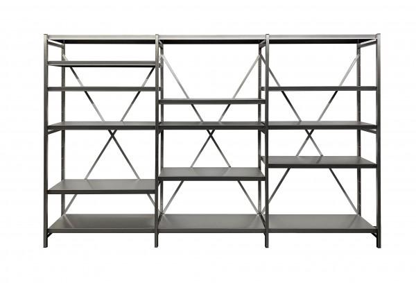 Boltless shelving made of stainless steel