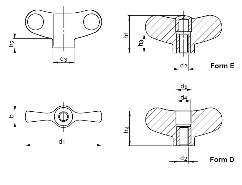 SM 1208 Wing nuts, plastic | SCHOLZ MECHANIK