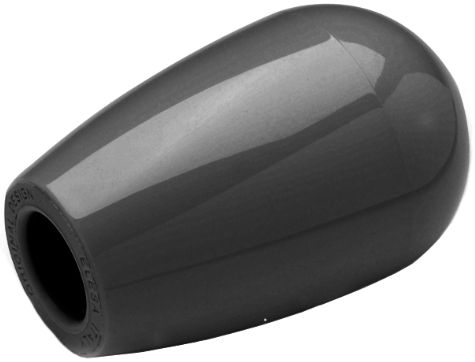SM 1265-2 Domed gear knob, plastic